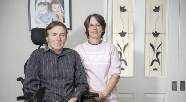 Glenda and Grant Lovatt. Grant has motor neurone disease and his wife cares for him full-time....