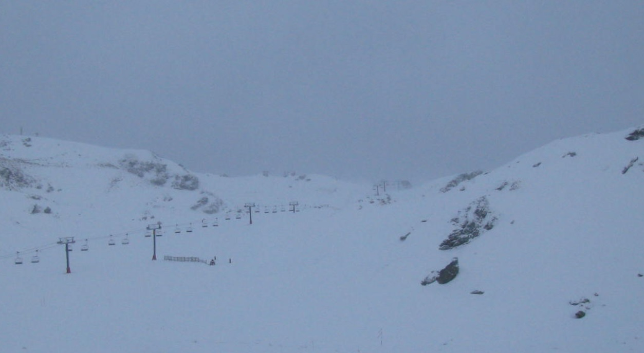 A view from a Cardrona webcam this morning.