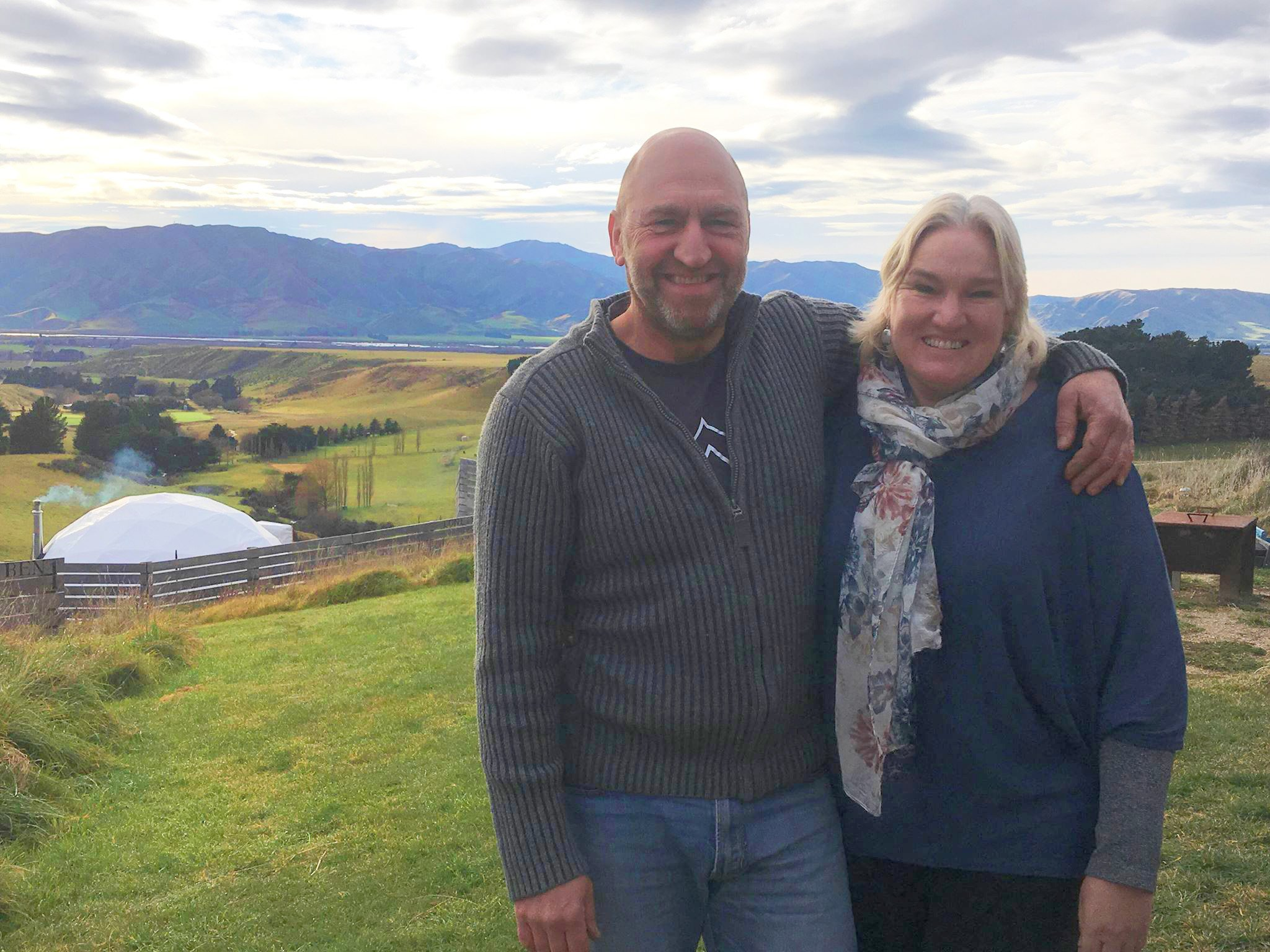 Down to earth and sharing the view, glamping style | Otago