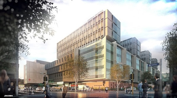 An artist's impression of the new Dunedin Hospital.
