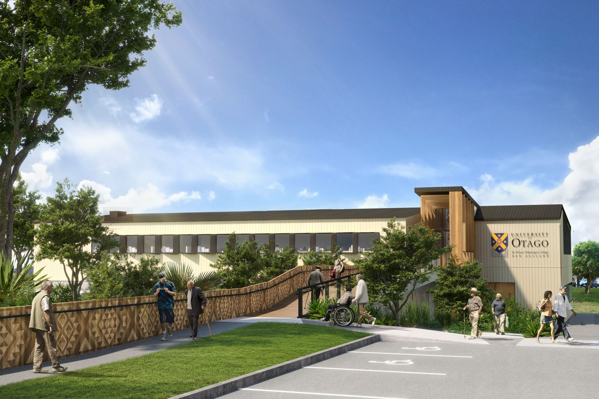 The University of Otago's $28.2 million two-storey facility in South Auckland will have 32...