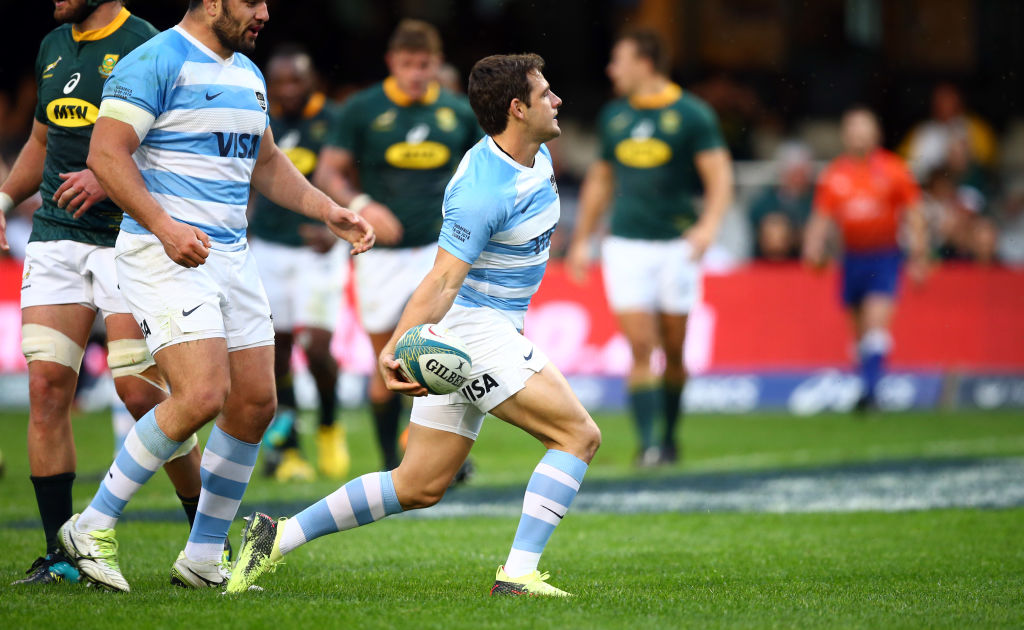 Nicolas Sanchez scored 17 points to help Argentina to victory over South Africa. Photo: Getty
