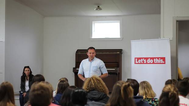 Labour leader Jacinda Ardern and Labour's General Secretary Andrew Kirton spoke at the Young...
