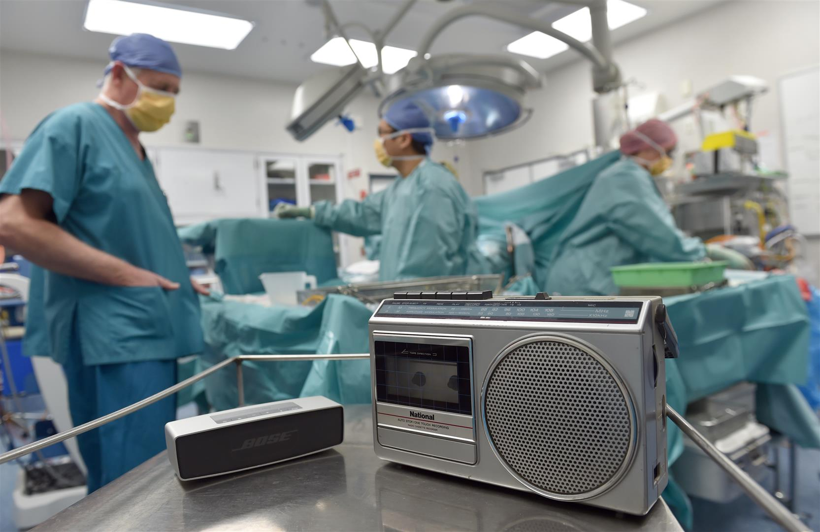 Teams at Dunedin Hospital regularly have music on in the background while they work. PHOTO: PETER...