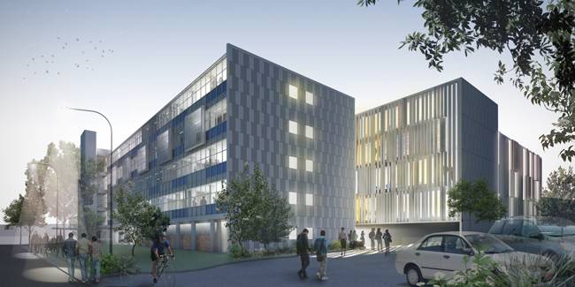 An artist's impression of what the University of Otago's new dental school in Dunedin will look...