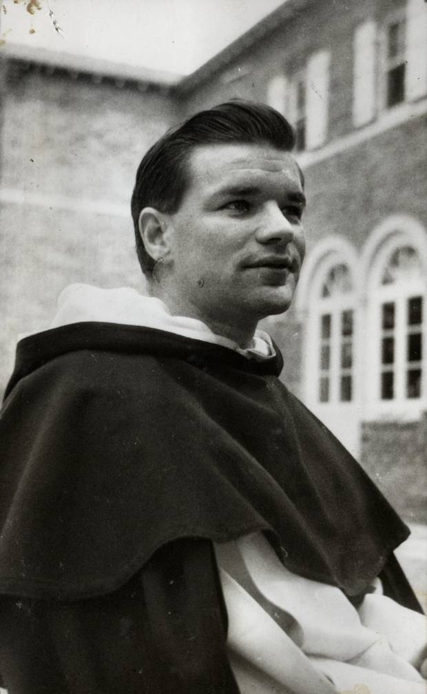 Father Shirres at St Patrick's College, Silverstream, in Upper Hutt in 1954. Photo: Supplied/NZME