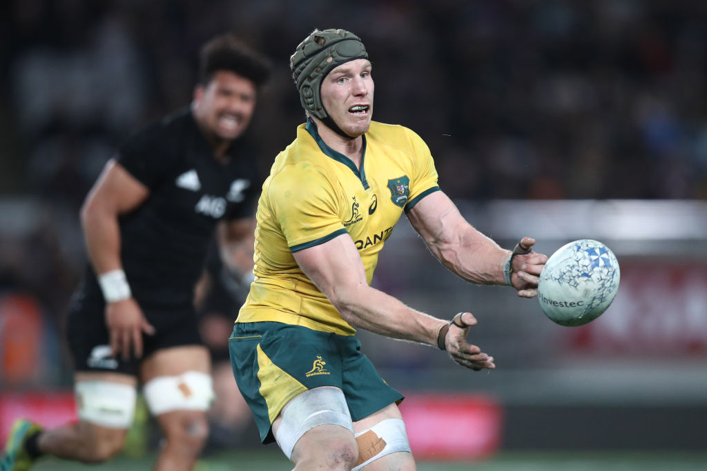 David Pocock in action for the Wallabies against the All Blacks last month. Photo: Getty