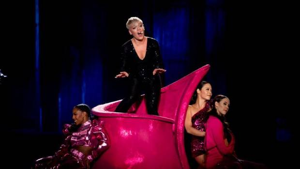 Pink has created a funhouse in Auckland and if you can go, you 100% should. Photo:NZME