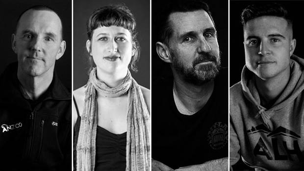 From left: Bary Neal, Amy Crerar, Karl Jager and Israel Whitley. Photos: ODT and NZME