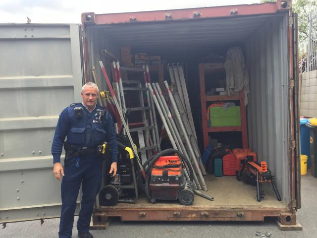 Wanaka Police recover stolen tools following search warrant. Photo: NZ Police