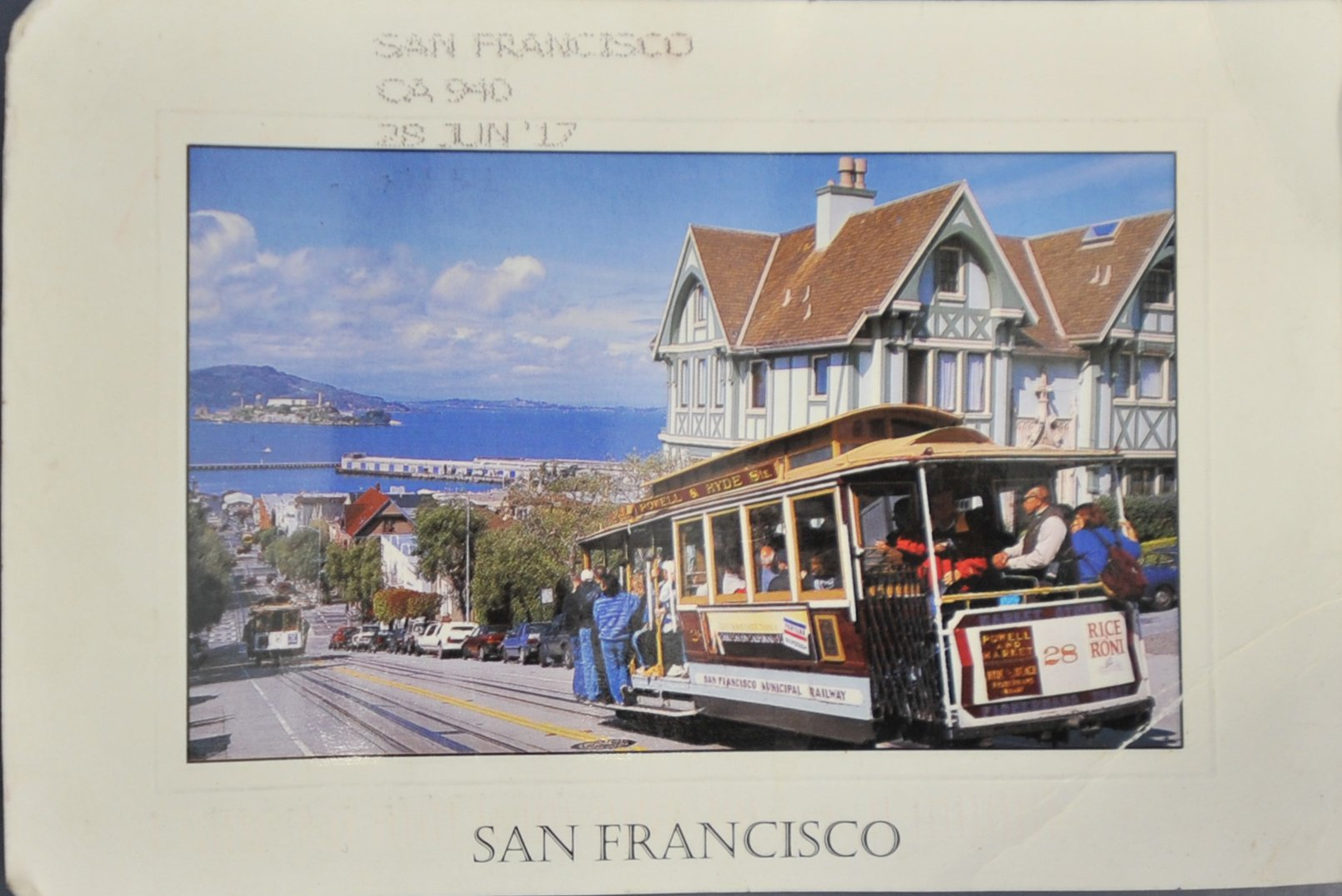 Michelle Carruthers brought in this postcard of a San Francisco cable car which looks eerily like...
