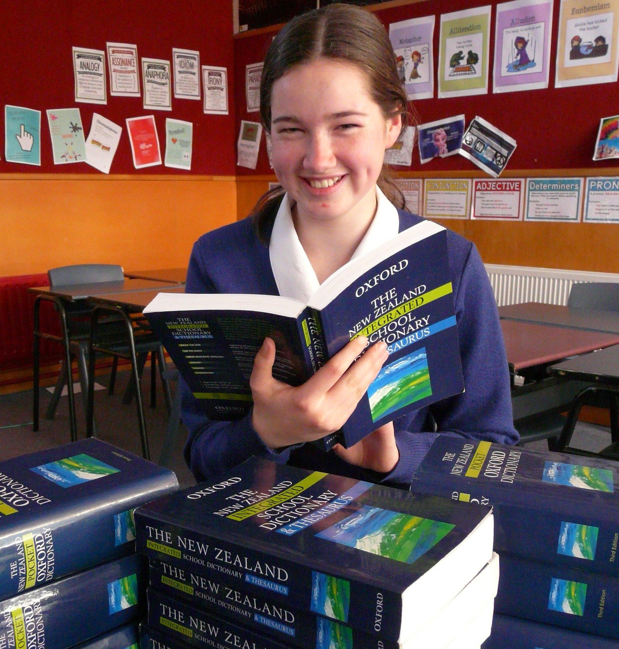 South Otago High School pupil Annie Schofield prepares herself for next month's New Zealand...