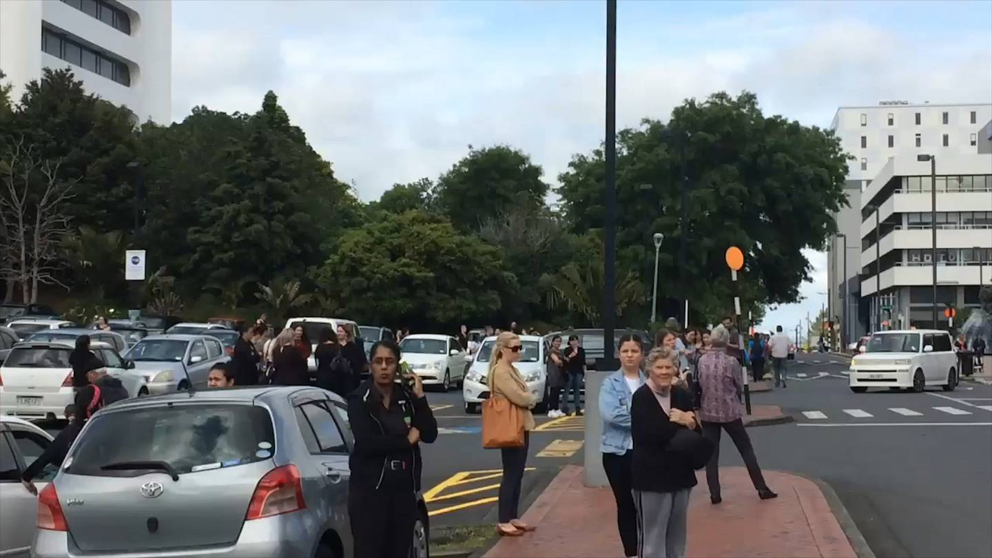 People were evacuated from the mall during the incident. Photo: Supplied via NZ Herald