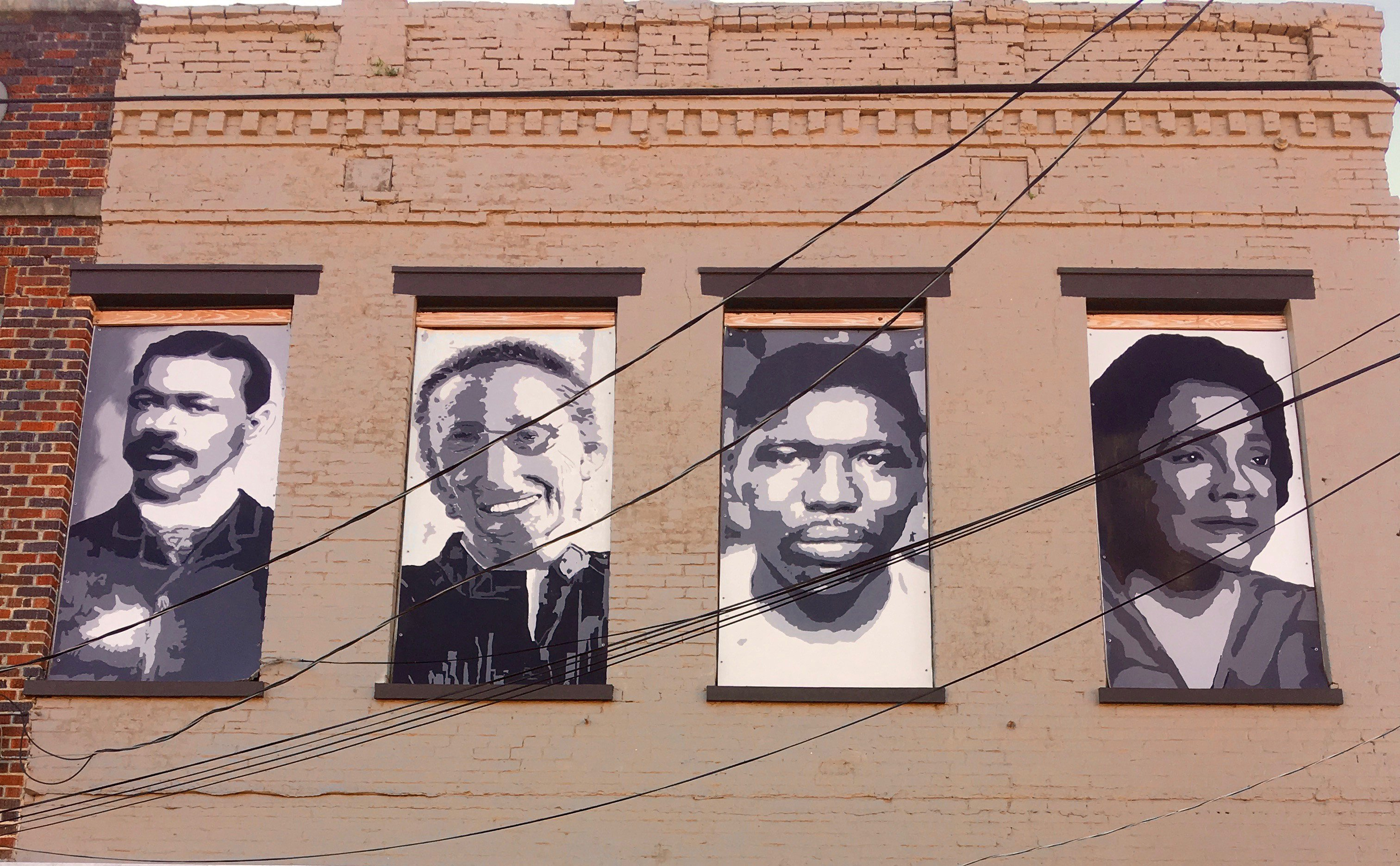 A mural in Marion's square honouring Stephen Childs, Mary Ward Brown, Jimmie Lee Jackson and...