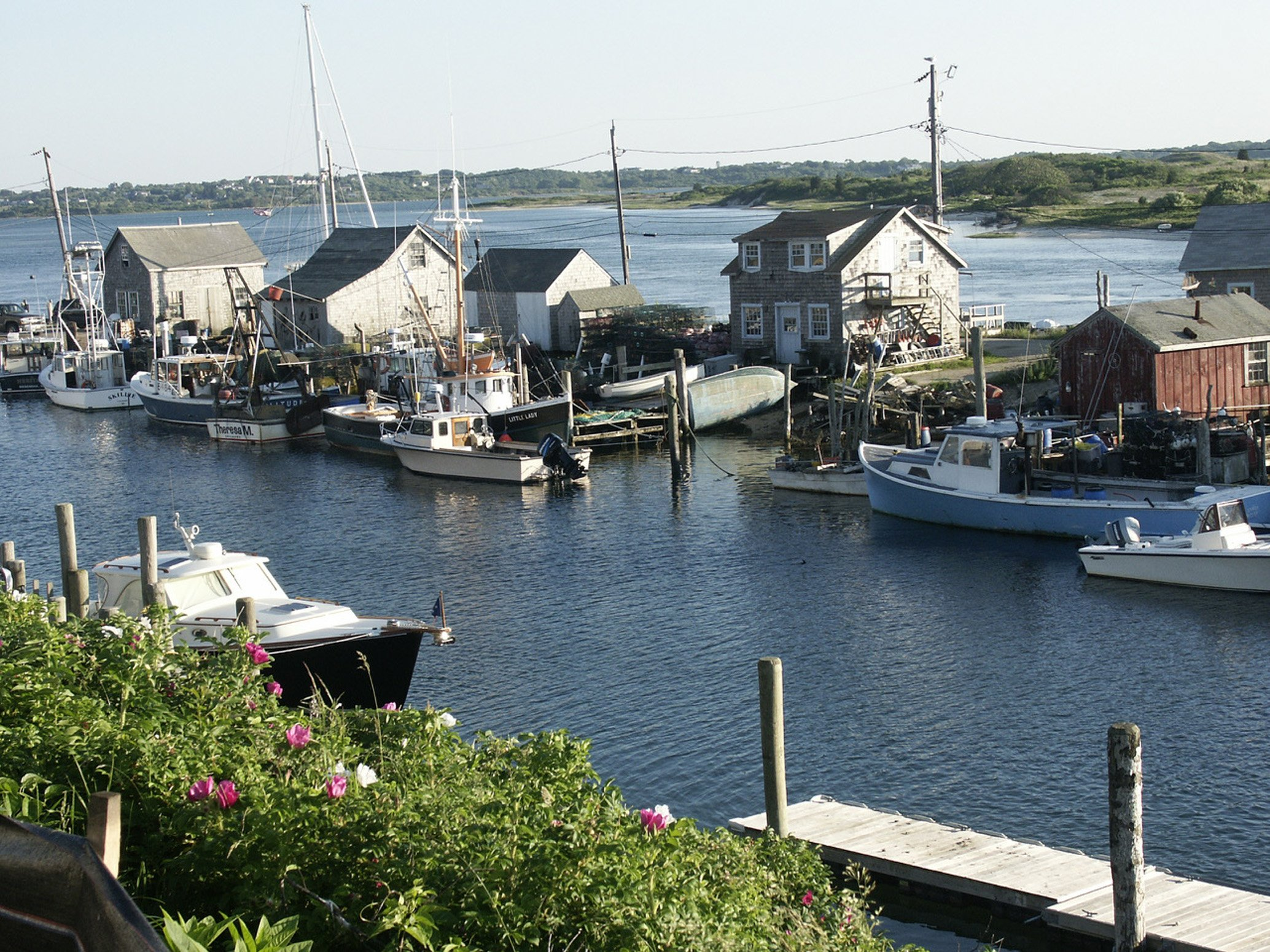 Boats dock in the tiny fishing village of Menemsha on Martha's Vineyard. Photo: Heather Goff