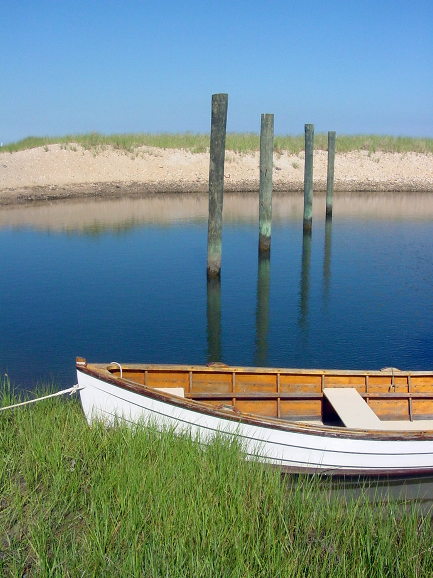 The quiet lagoon waters of West Tisbury. Photo: Heather Goff
