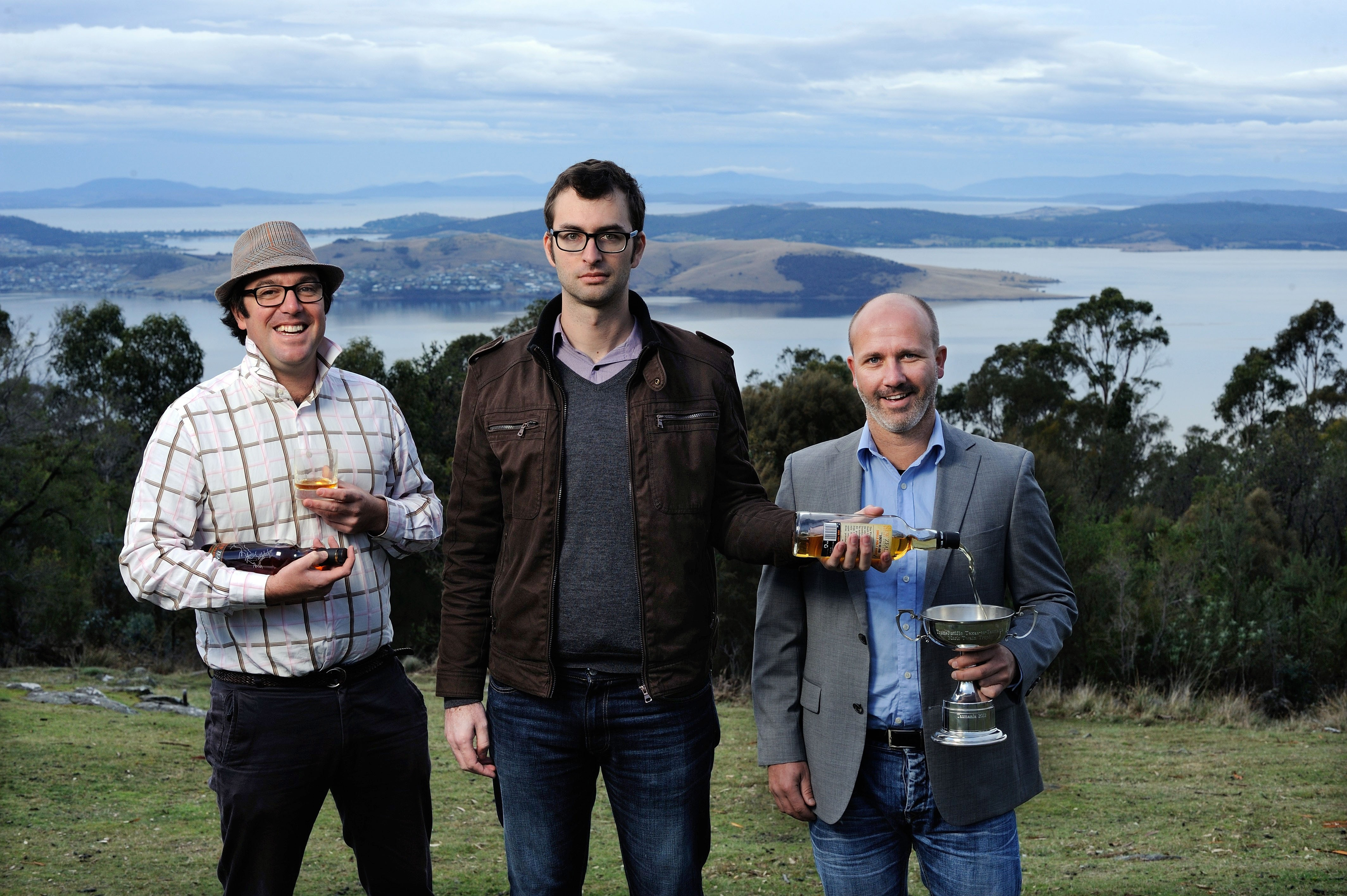 The NZ Whisky Collection exec team; Greg Rathbone, Tom Holder and Troy Trewin