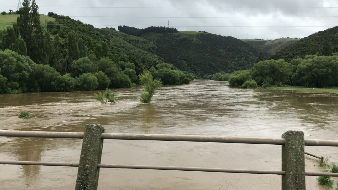 Taieri River at Outram, taken mid-morning today. Photo: ORC
