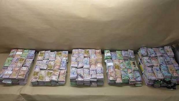 Customs investigators seized $2m in cash stuffed into five rubbish bags. Photo: Supplied