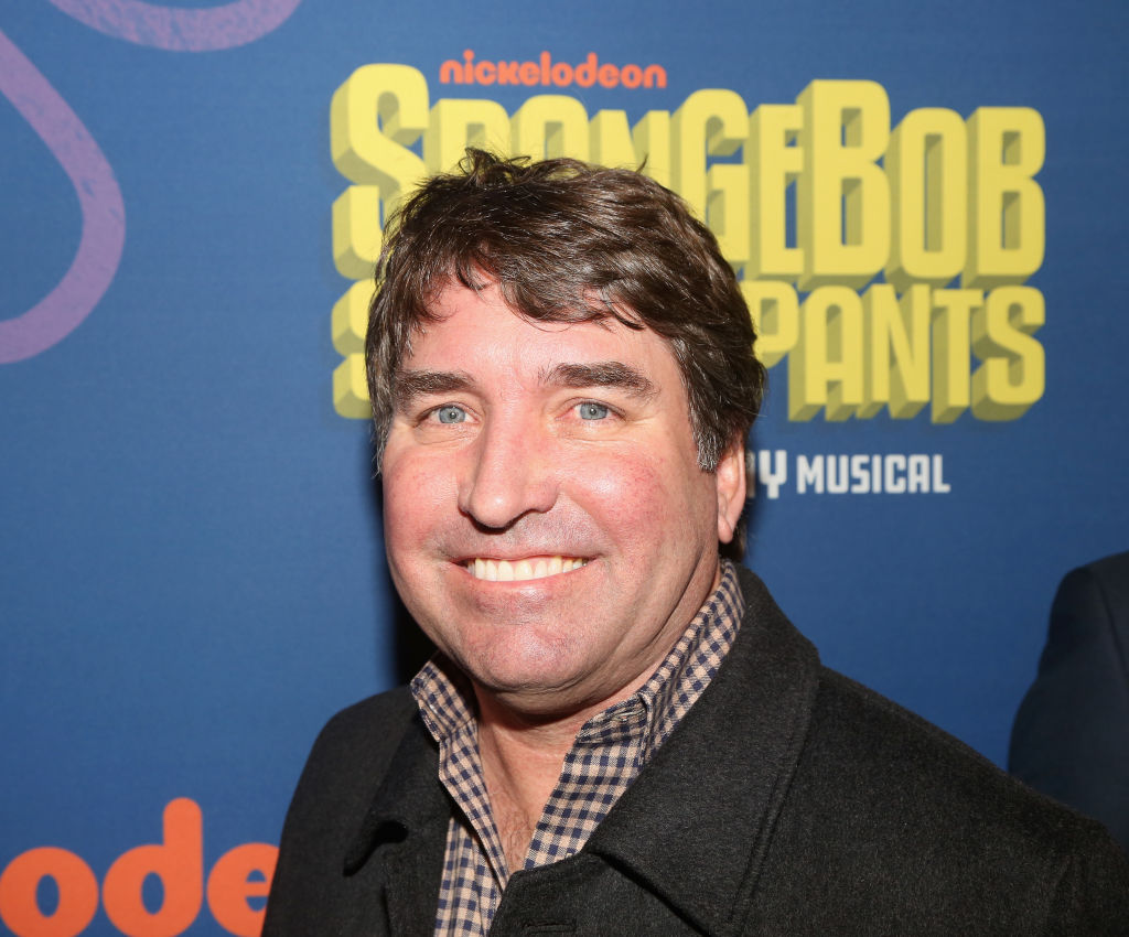 Stephen Hillenburg (creator of 'Spongebob') poses at the opening night arrivals for the new musical 'Spongebob Squarepants' on Broadway. Photo: Getty Images