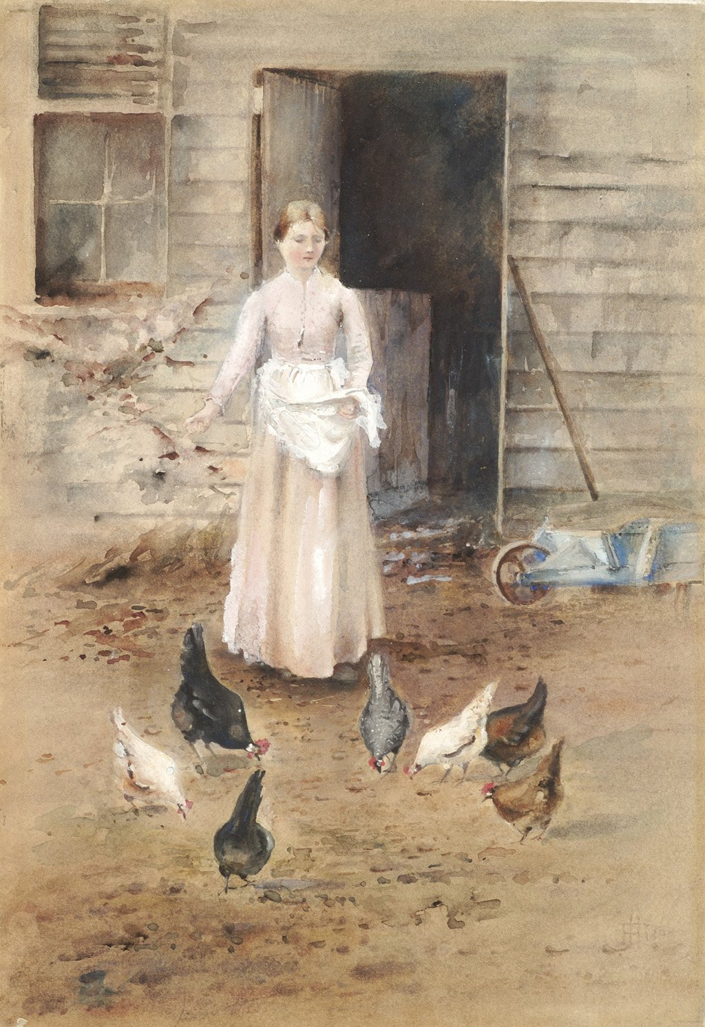 Girl Feeding Poultry, by Frances Hodgkins. Photo: Christchurch Art Gallery