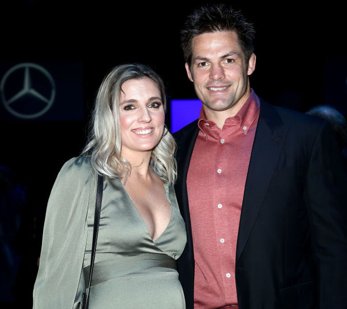 Richie and Gemma McCaw attend a show during New Zealand Fashion Week in Auckland in August. Photo...