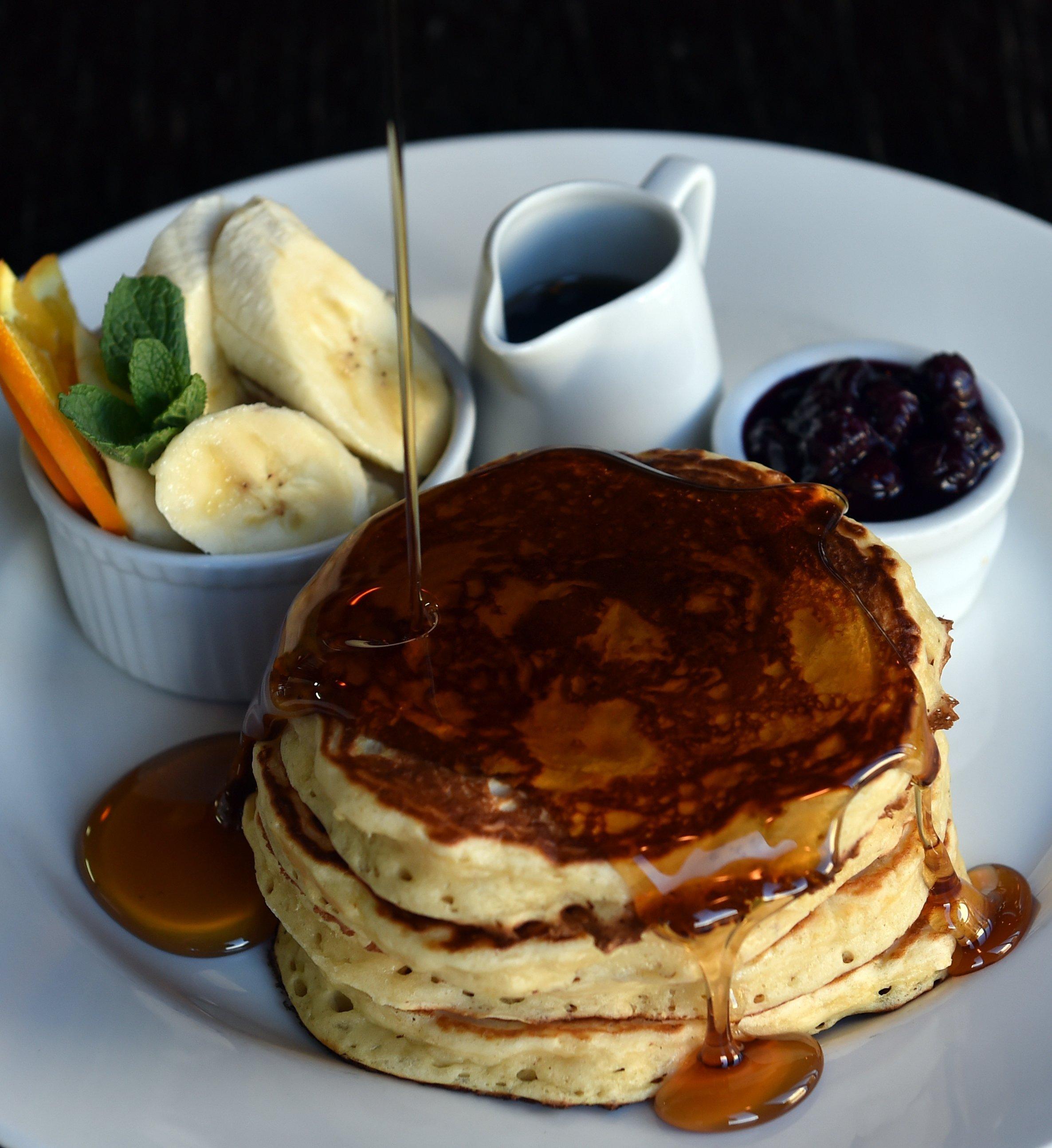 Ironic Cafe's pancakes. Photo: PETER MCINTOSH