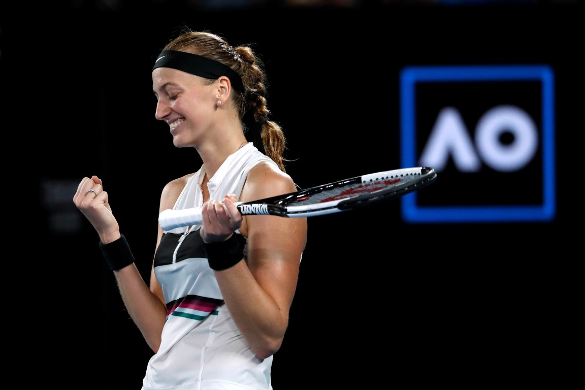 Petra Kvitova celebrates her victory. Photo: Reuters