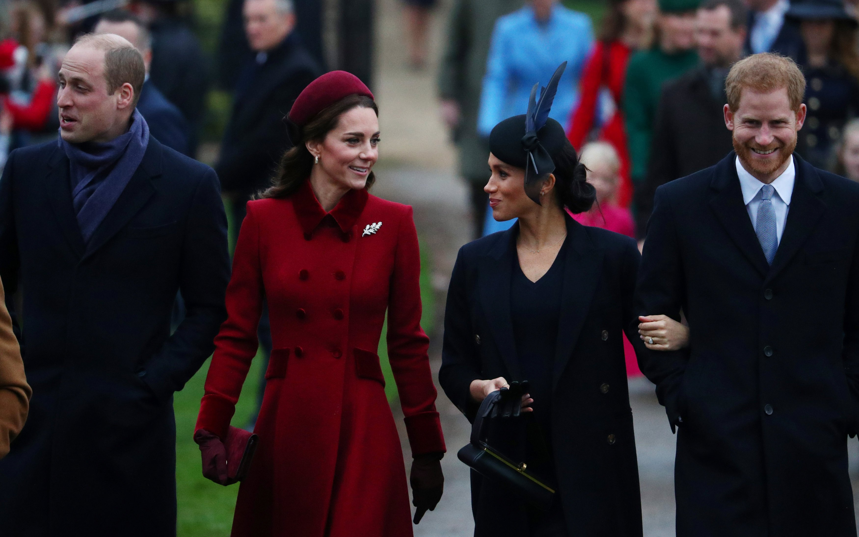Prince William, Duke of Cambridge and Catherine, Duchess of Cambridge along with Prince Harry,...
