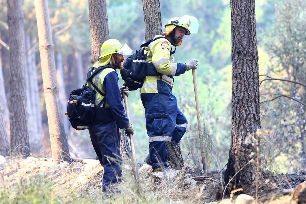 The Tasman blaze remains uncontained and the region is still under extreme fire conditions. Photo...
