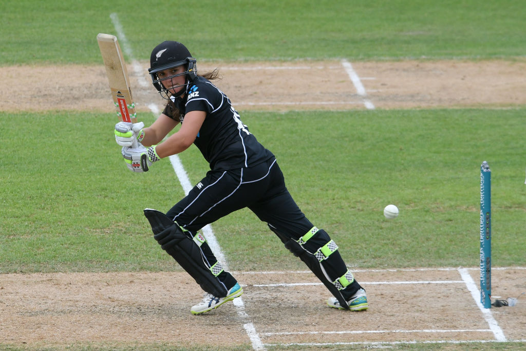 Amelia Kerr in action for New Zealand. Photo: Getty