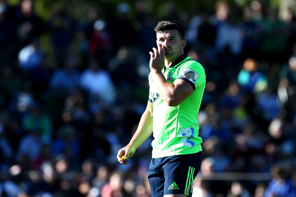 Bryn Gatland will start at first five for the Highlanders against the Rebels. Photo: Getty
