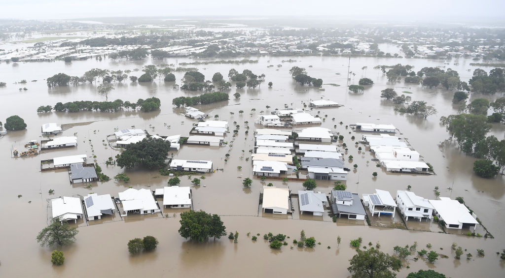 An aerial view of flooded Townsville. Photo: Getty