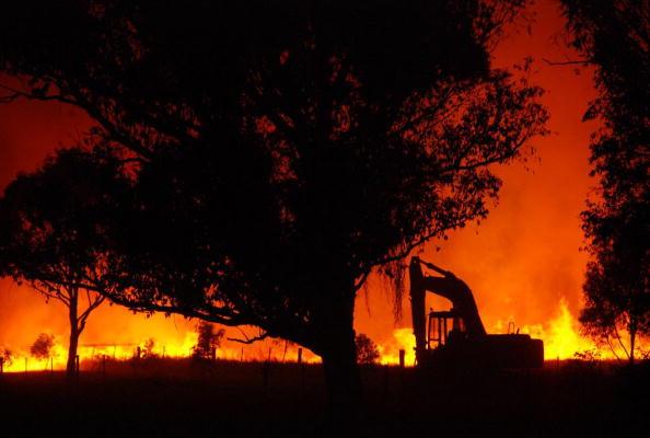 A bush blaze rages near Marysville on Black Saturday (Feb 7, 2009) in Victoria. Photo: Getty