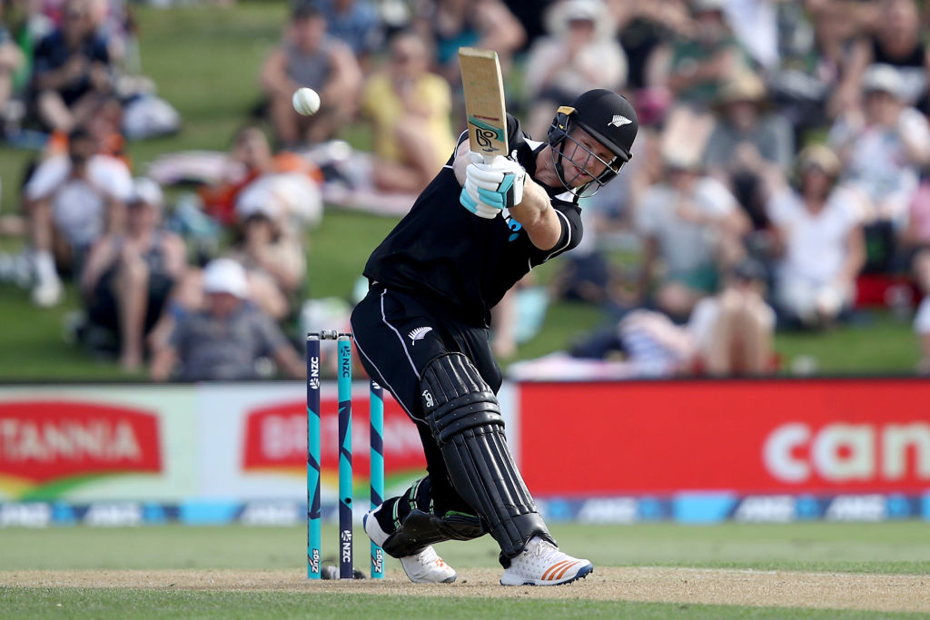 Jimmy Neesham in action for the Black Caps