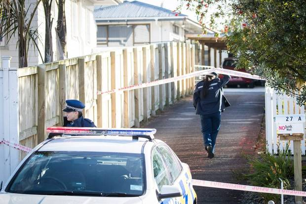 Police at the scene of the homicide on Maich Rd in Manurewa on November 12, 2017. Photo: NZME