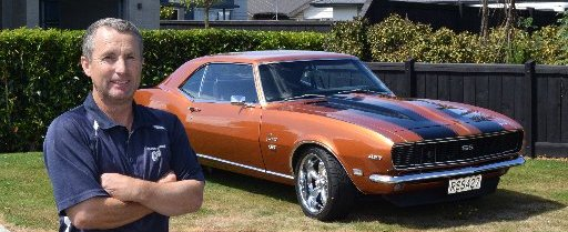 American muscle ... Wayne McFarlane's 1968 Chevrolet Camaro RS SS, which he will enter in the...