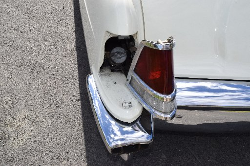 Quirky feature ... The fuel cap behind a swing-away tail light.
