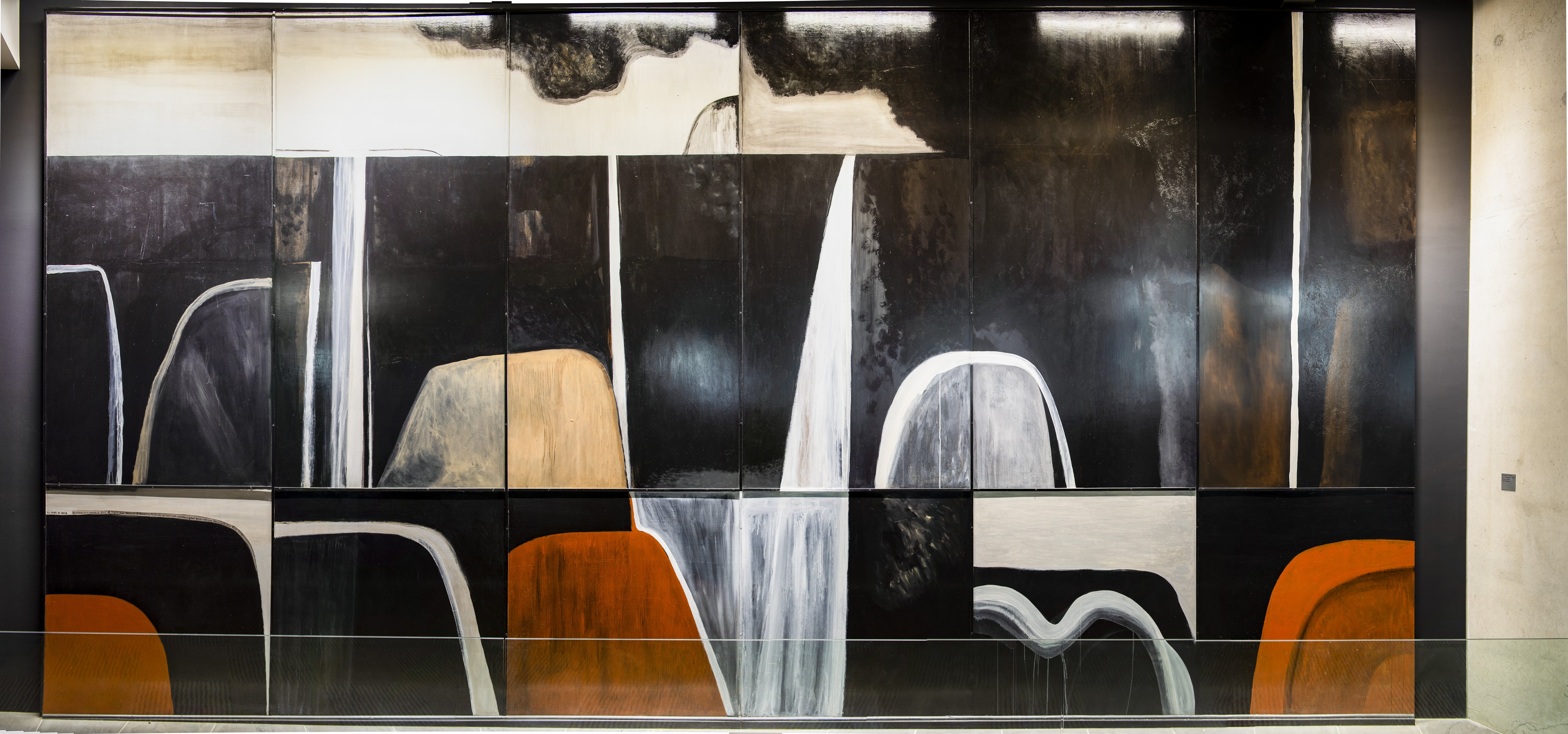"""Colin McCahon's Waterfall is part of the """"Embellishment Collection"""" at the University of Otago..."""