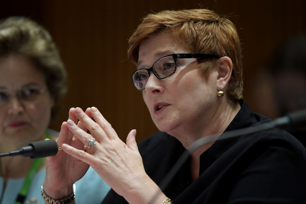 Australian Foreign Minister Marise Payne. Photo: Getty