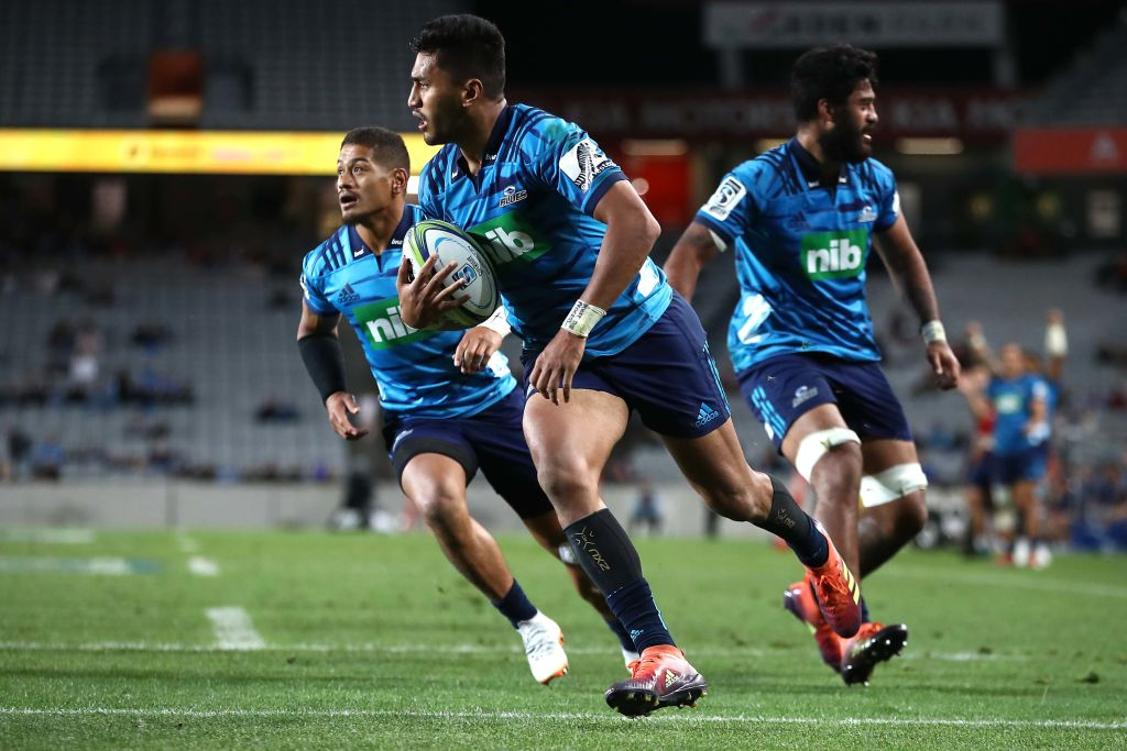 Rieko Ioane runs in to score for the Blues against the Stormers. Photo: Getty