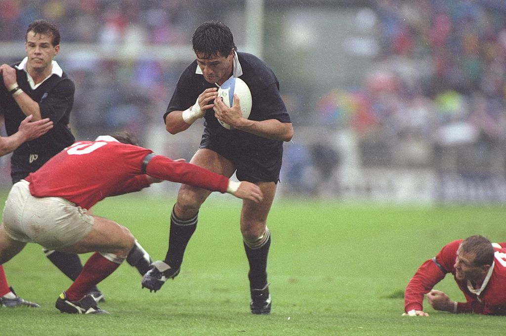 Zinzan Brooke in action for the All Blacks against Canada during the 1991 World Cup. Photo: Getty...