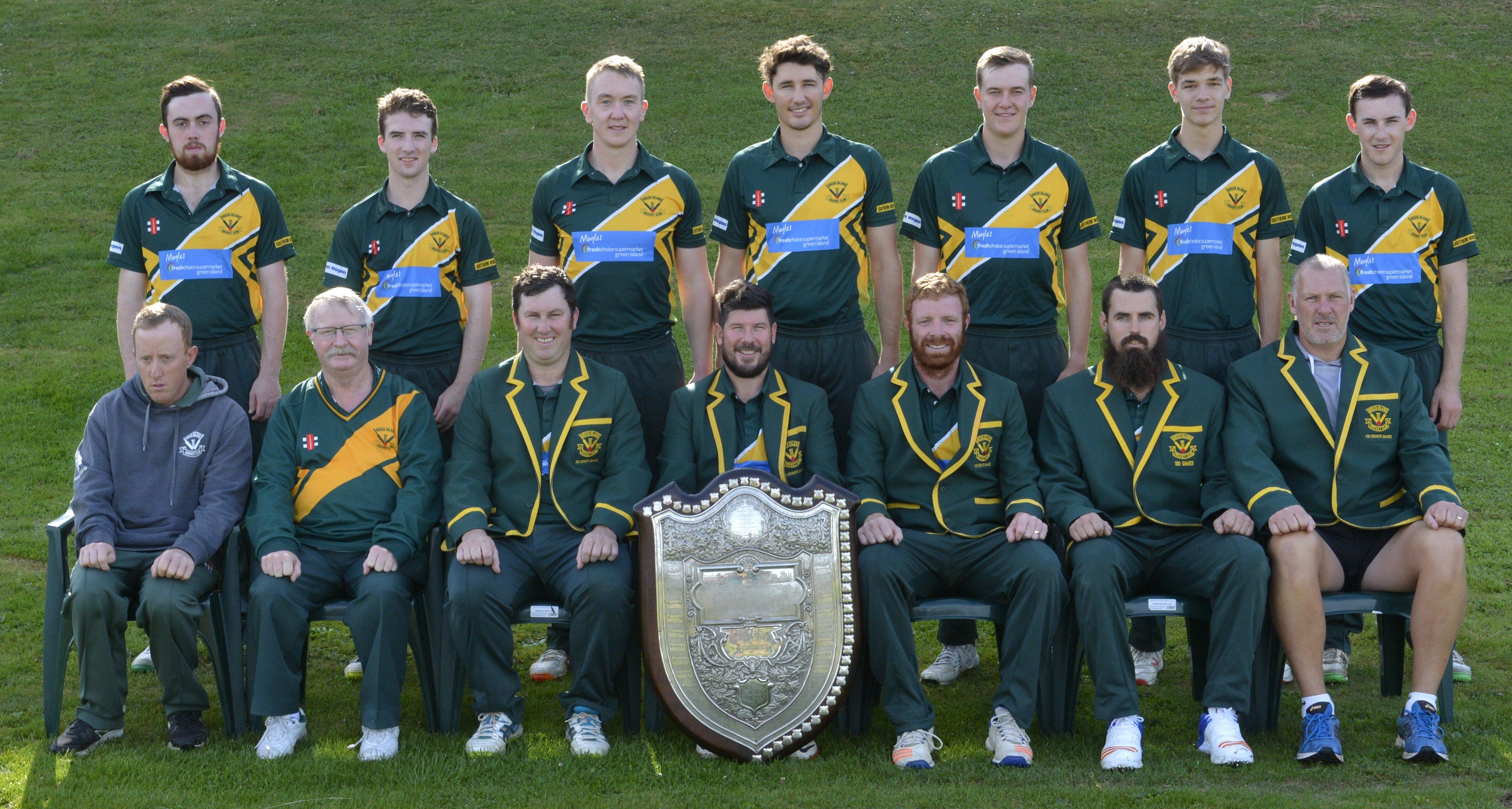 星期六在桑尼维尔举行的冠军绿岛板球队与Bing Harris奖杯....