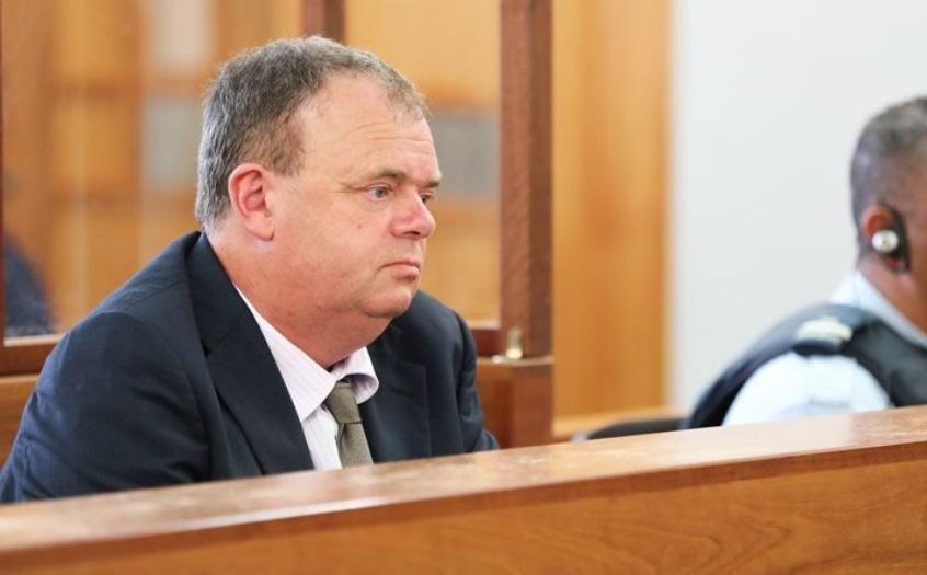 Grant Hannis awaits sentencing at the Wellington District Court. Photo: RNZ