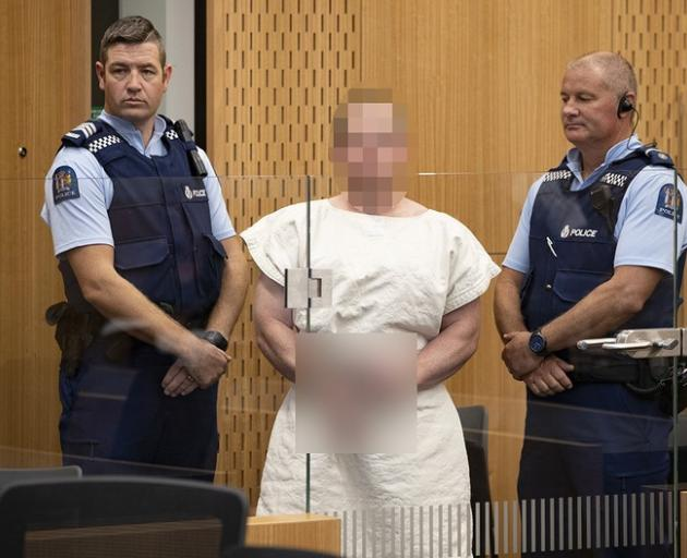 Brenton Tarrant during an appearance in the Christchurch District Court. Photo: NZME
