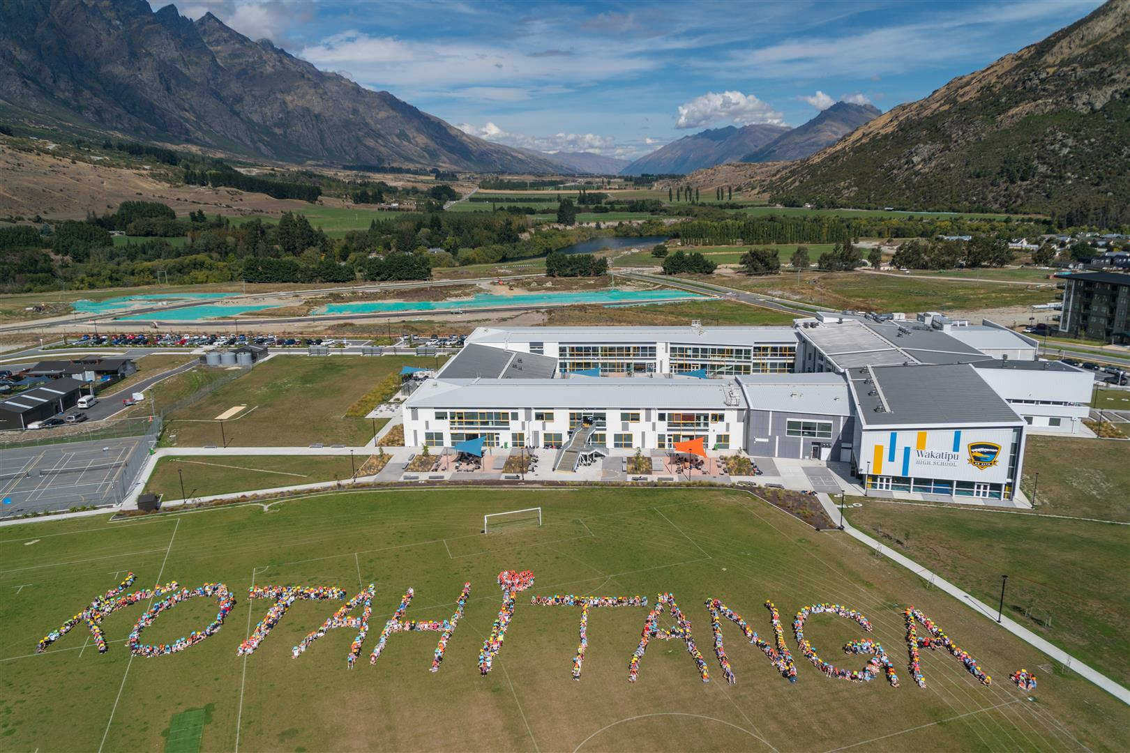 Wakatipu High School pupils observed two minutes of silence yesterday. PHOTO: GUILLAUME CHARTON