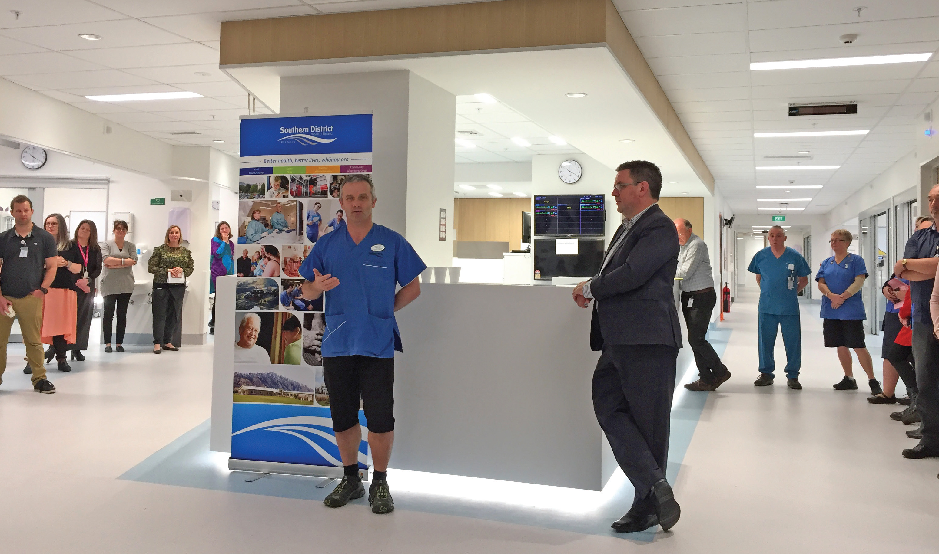 Intensive Care Unit Charge Nurse Manager Shayne Wylie, pictured with Southern DHB Chief Executive...