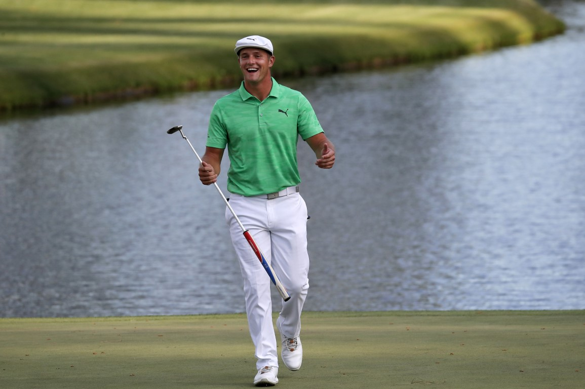 Bryson DeChambeau held a share of the lead after the first round. Photo: Reuters