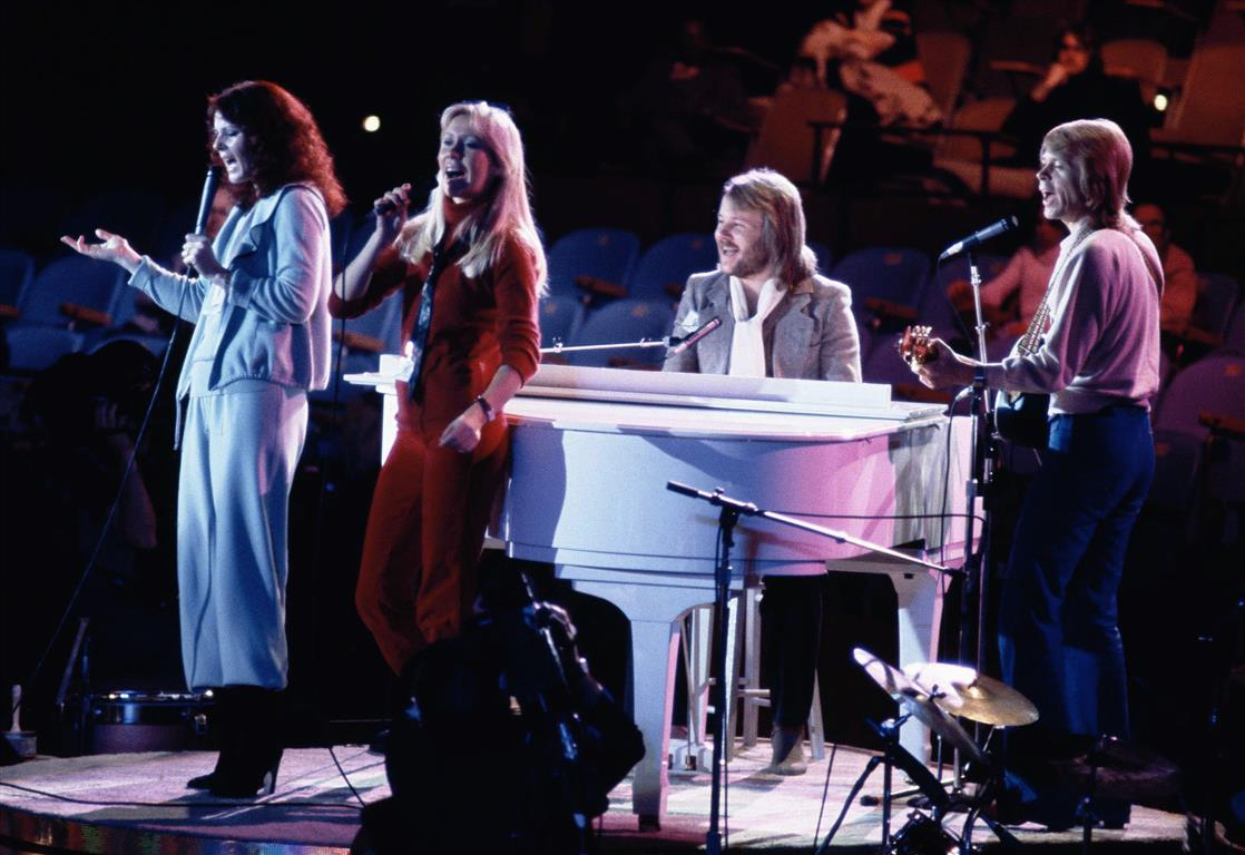 Abba perform at United Nations General Assembly in New York during the taping of an NBC TV...