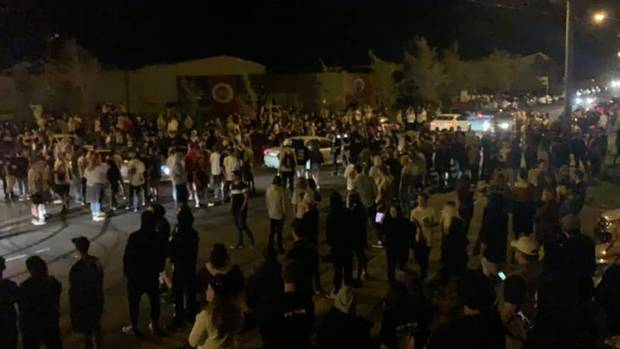 Hundreds of boyracers descended on Christchurch on Saturday night. Photo: Supplied